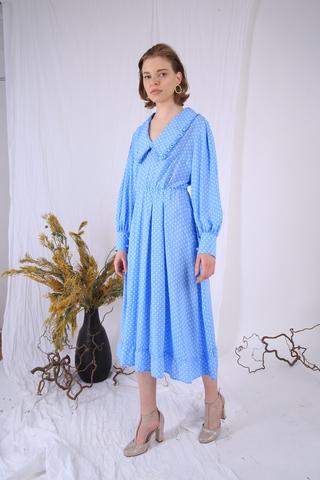 Платье в горошек из вискозы