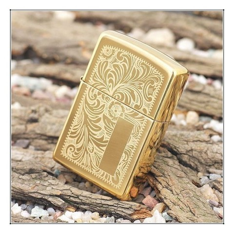 Зажигалка ZIPPO 352B Venetian Золотая