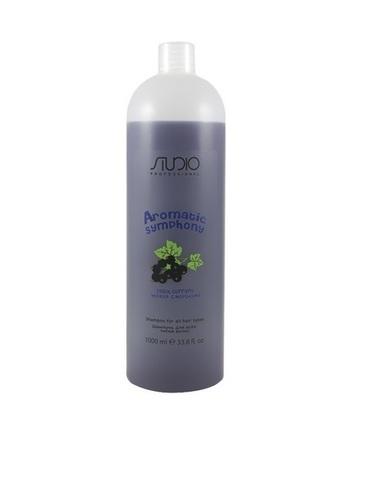 Шампунь для всех типов волос Черная смородина,Kapous Aromatic,1000 мл