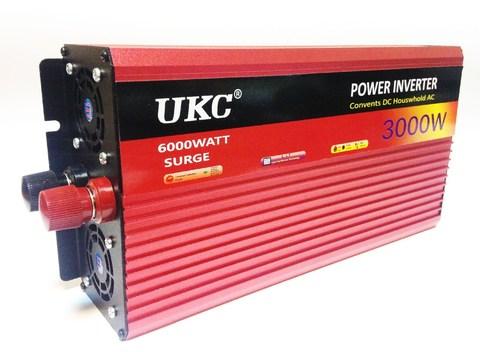 Инвертор 12-220V YURNIX Юрникс 3000W 12 на 220вольт 3000 Ват преобразователь напряжения