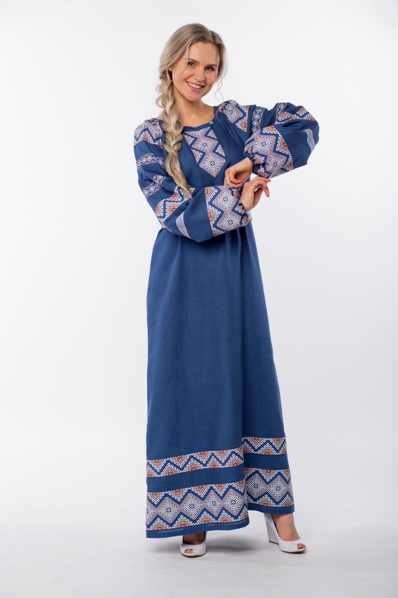 Платье льняное Ангара вид сбоку