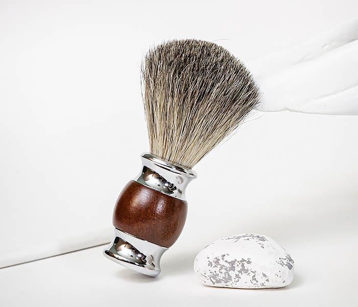 RAZ513 Помазок из натурального барсучего волоса