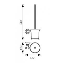 Держатель для туалетной щетки (ершик) настенный KAISER Arno BR KH-4206 схема