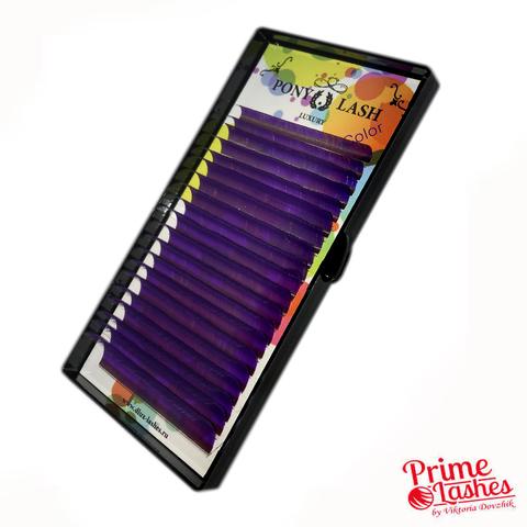 Ресницы Pony Lash цветные микс 20 линий, Фиолетовые