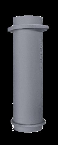 Чугунная НИЖНЯЯ труба для шибера 130/500мм
