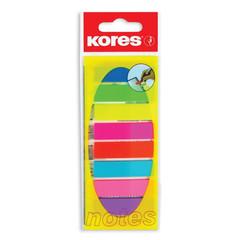 Клейкие закладки Kores Film пластиковые 8 цветов по 25 листов 12х45 мм на линейке