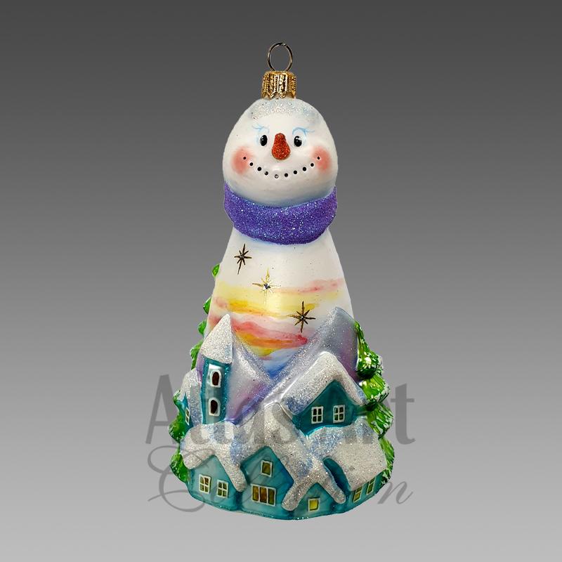 Снеговик Рассвет над городом