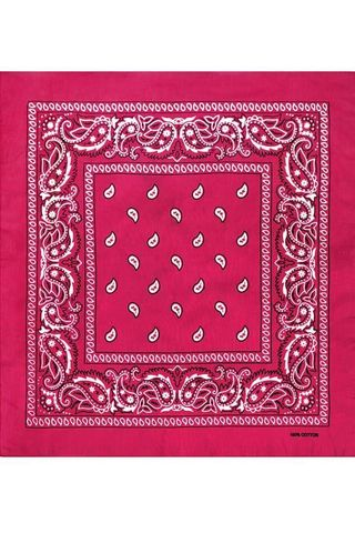 Темно-розовая бандана фото