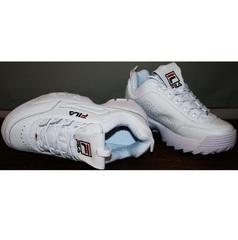 Белые кроссовки Fila Disruptor 2 all white RN-91175