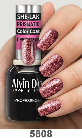 Alvin D`or Лак для ногтей SHE-LAK PRISMATIC  тон 5808 -8мл