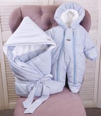 Комплект на выписку для мальчика зима Finland голубой