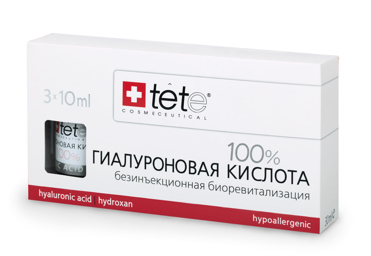 100% Гиалуроновая кислота / TETe Pure Hyaluronic acid 3*10 ml