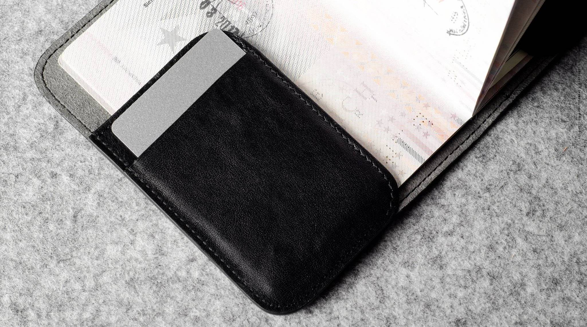 Hard Graft Обложка на паспорт Trip Passport Cover Coal