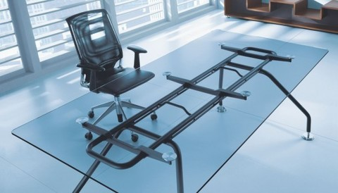 Стол руководителя со стеклянной столешницей (XEON)