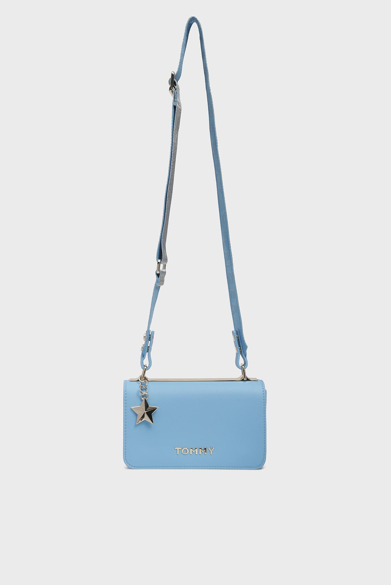 Женская голубая сумка через плечо TOMMY STATEMENT CROSSOVER Tommy Hilfiger