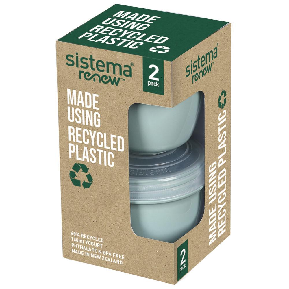 """Контейнер для йогурта Sistema """"Renew"""" 150мл, 2шт., цвет Светло-зеленый"""