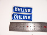 Наклейки для амортизатора Ohlins пара 6см бело-синие