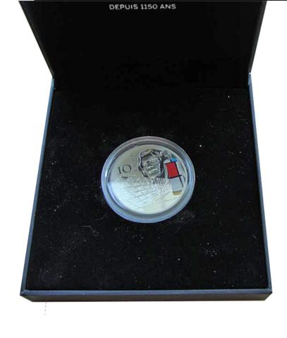 10 евро 2016 Франция Ив Сен Лоран. Современная Европа в 20 веке. Серебро