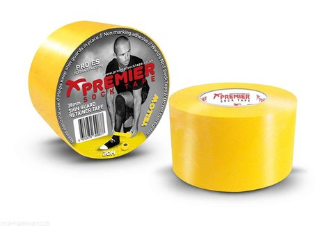 PST Shin Guard Retainer Tape 38mm x 20m - YELLOW