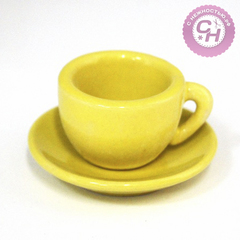 Чашка с блюдцем МИНИАТЮРА, керамические, 2,5см*3,7см+1,1см*6см.