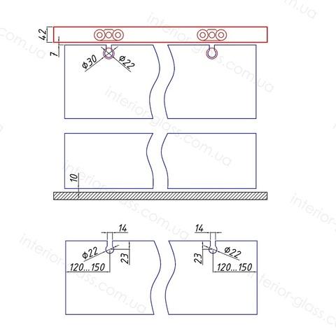 Раздвижная система SL-001 для стеклянных дверей