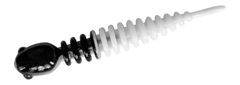 Силиконовые приманки Trout Bait Chub 65 (65 мм, цвет: Бело-чёрный, запах: чеснок, банка 12 шт.)