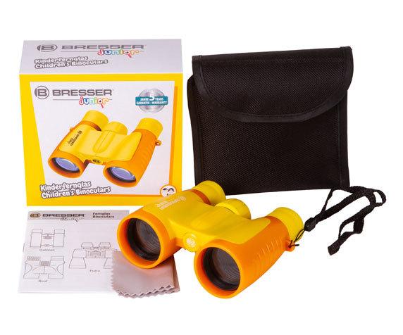 Бинокль детский Bresser Junior 3x30 желтый - фото 2 - комплект поставки