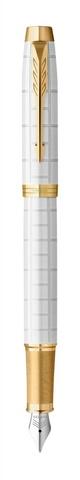 Ручка перьевая Parker IM Premium F318  Pearl GT, перо F123