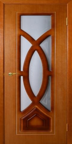 Дверь Камелия ДО (карелия, остекленная шпонированная), фабрика Румакс