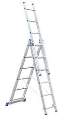 Трехсекционная универсальная лестница с допфункцией CORDA 3х6