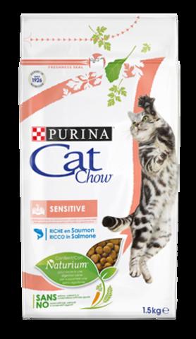 Cat Chow Сенситив для взрослых кошек с чувствительным пищеварением