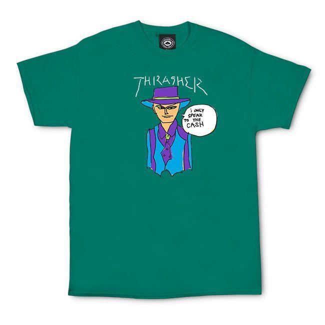 Футболка THRASHER Gonz Cash (Jade)