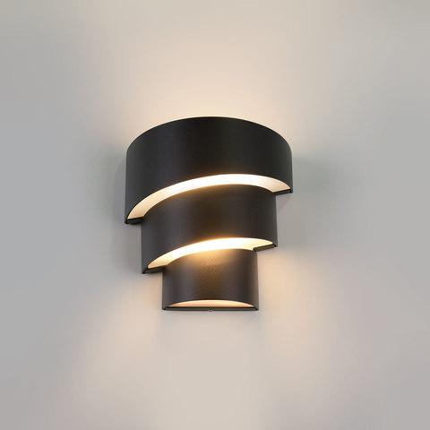 Helix черный уличный настенный светодиодный светильник 1535 TECHNO LED