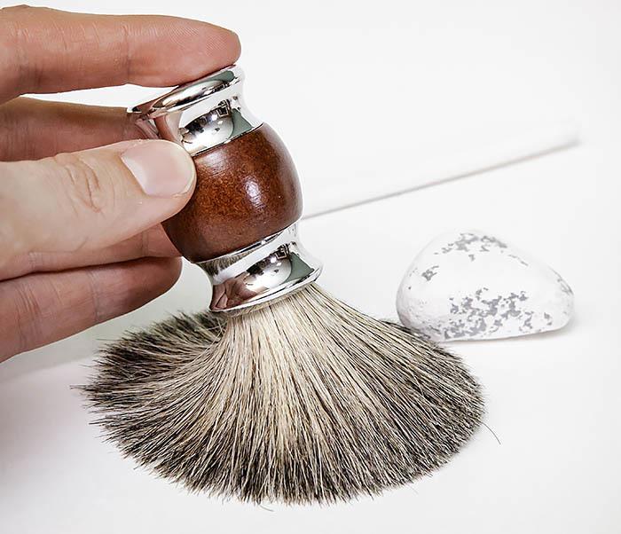 RAZ513 Помазок из натурального барсучего волоса фото 05