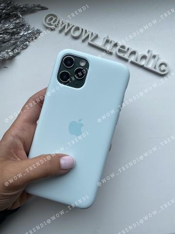 Чехол iPhone 11 Silicone Case /seafoam/ морская пена original quality