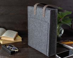 Войлочная сумка Gmakin Milanetti с ручками из кожзама