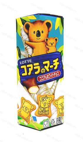 Печенье Koala's March Cocoa&White Chocolate, Корея, 37 гр.