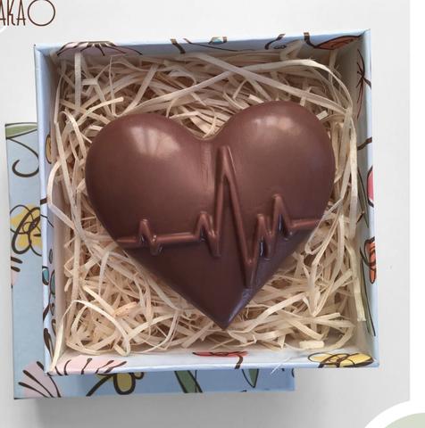 Пластиковая форма для шоколада жен. СЕРДЦЕ КАРДИОГРАММА (68х68мм)