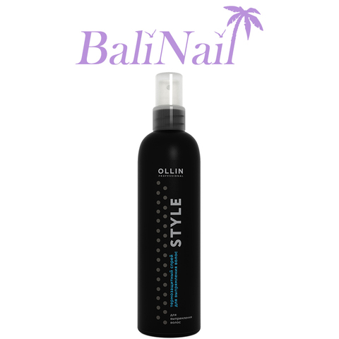 OLLIN STYLE Термозащитный спрей для выпрямления волос, 250мл