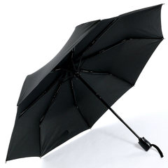 Плоский мужской зонт автомат Ламберти черный