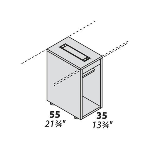 Тумба под системный блок опорная с кабель-менеджментом 550 мм LOGIC