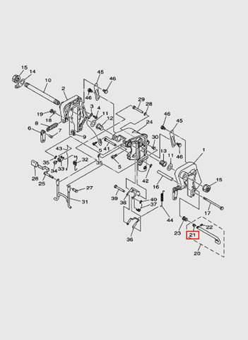 Пластина запирающая  для лодочного мотора T15, OTH 9,9 SEA-PRO (13-21)