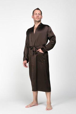 Мужской  халат из натурального щелка Luxe Dream