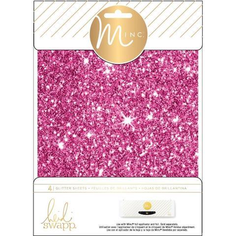 Фольга с глиттером для фольгирования Heidi Swapp Minc Glitter Sheets- Pink