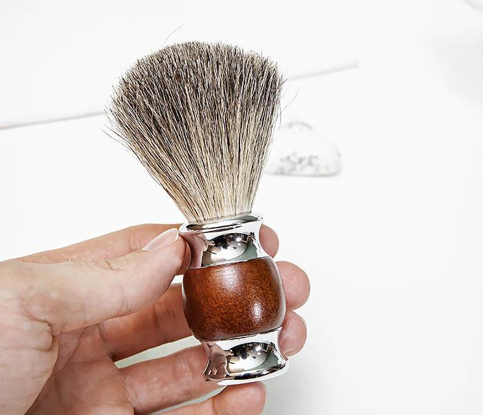 RAZ513 Помазок из натурального барсучего волоса фото 06