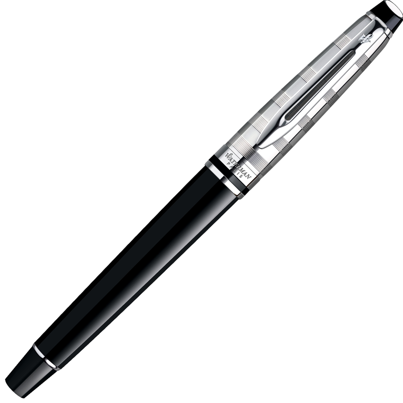 Waterman Expert - Deluxe Black CT, ручка-роллер, F, BL