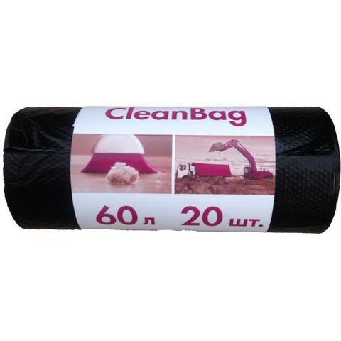 Мешки для мусора на 60 литров Концепция быта черные (15 мкм, в рулоне 20 штук, 58x65 см)