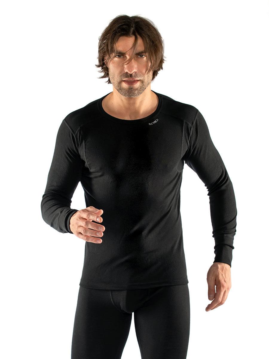 Devold термобелье футболка Hiking Man Shirt Black