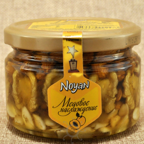 Мед с абрикосовыми косточками и грецким орехом Noyan, 320г