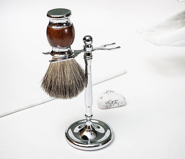 RAZ513 Помазок из натурального барсучего волоса фото 07